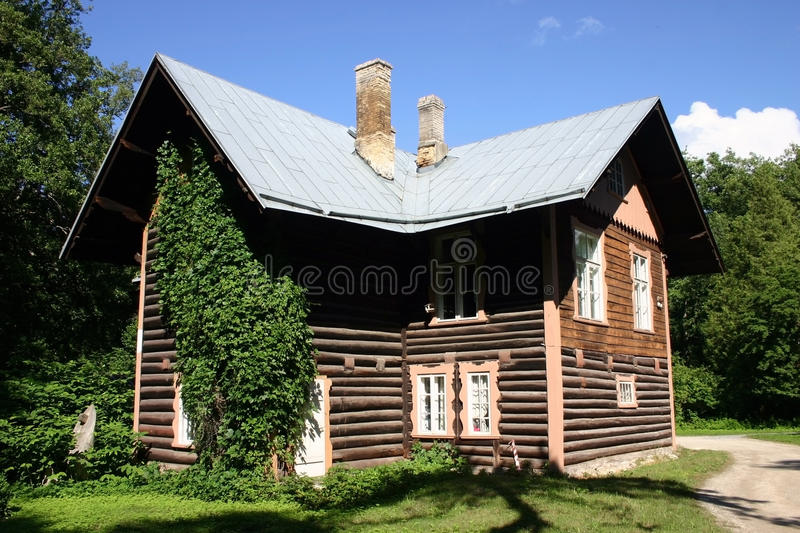 Download House in wood stock photo. Image of cascade, curvature - 23489856