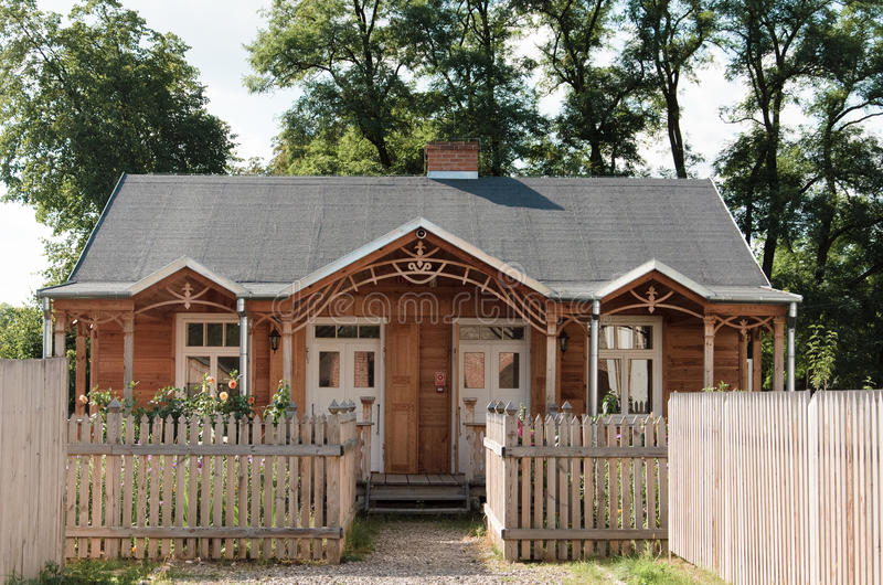 House wooden architecture village Poland royalty free stock photo