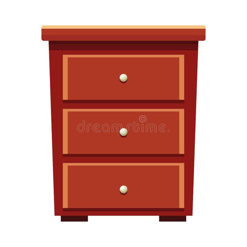 House wooden drawer furniture cartoon. Vector illustration graphic design vector illustration