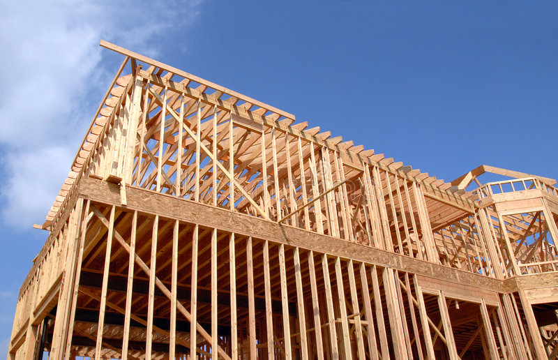 House Wooden Frame royalty free stock photos
