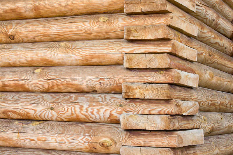 House from wooden logs royalty free stock photo
