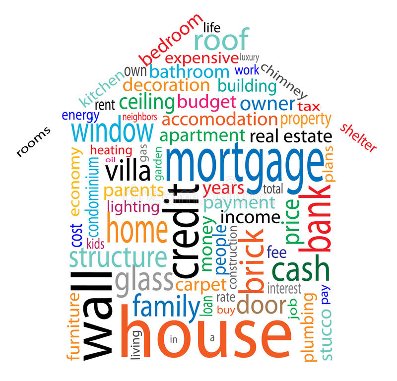 House word cloud royalty free illustration