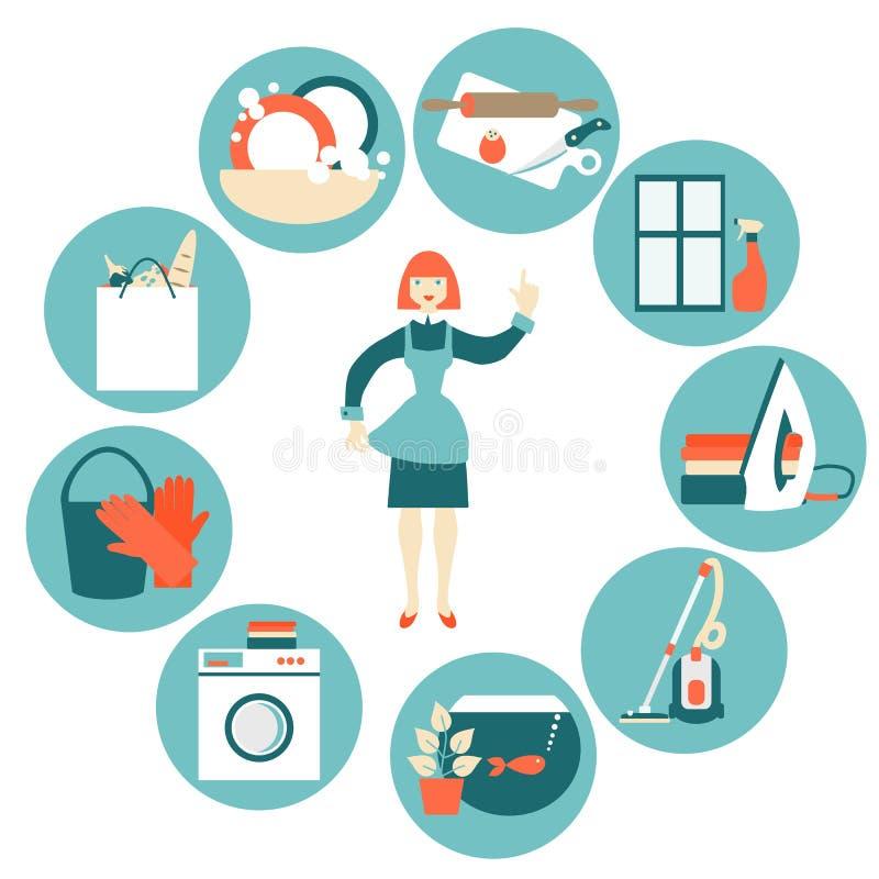 House work concept vector illustration royalty free illustration