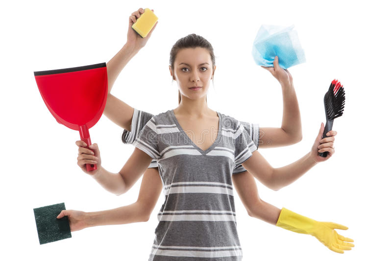 Delightful Download House Work Stock Image. Image Of Woman, White, Housewife   41039609