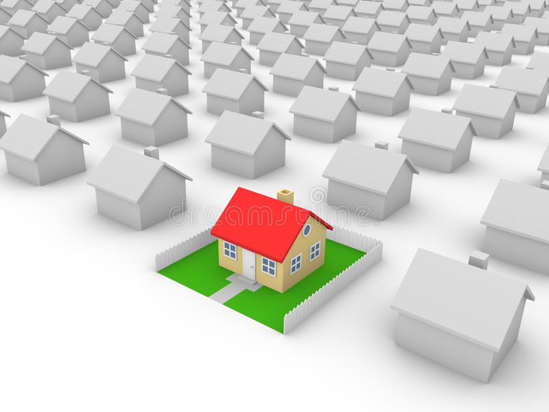 Download House With Yard Royalty Free Stock Photography - Image: 21318407