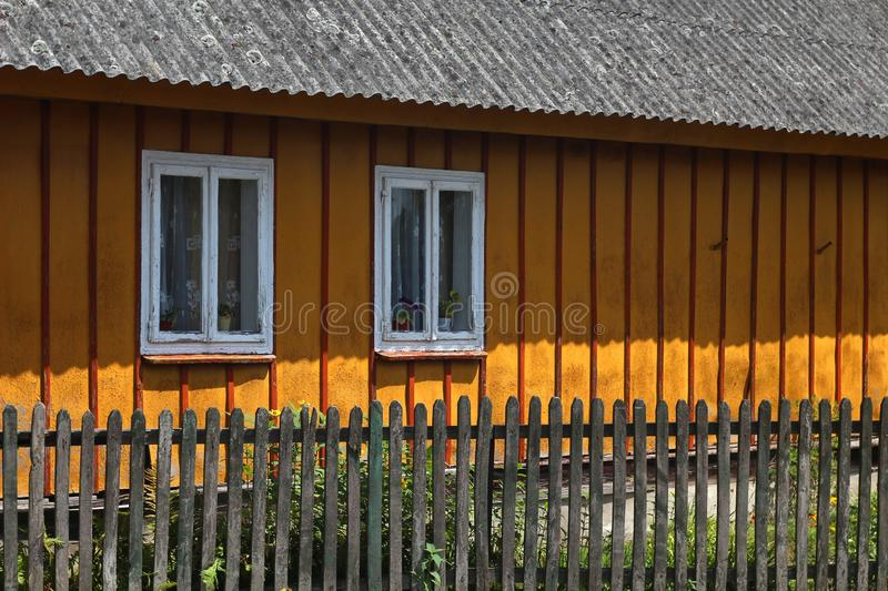 House, Yellow, Home, Fence stock image