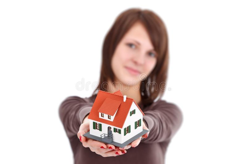Download House for you stock photo. Image of human, model, white - 23013240