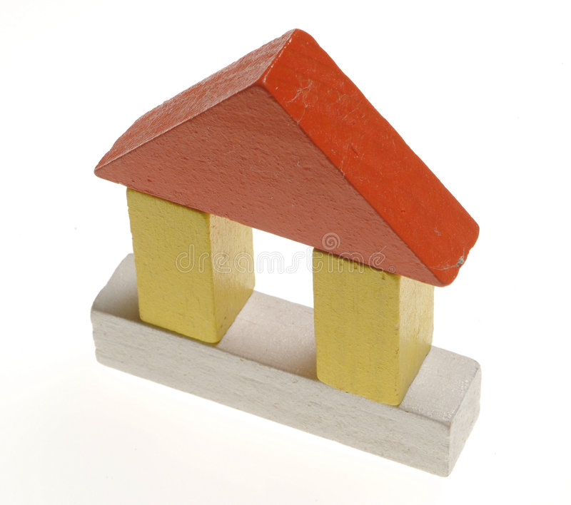 House2 des hölzernen Spielzeugs lizenzfreie stockbilder