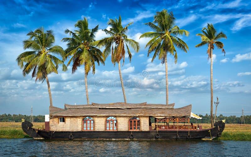 houseboat Индия Керала подпоров стоковая фотография rf