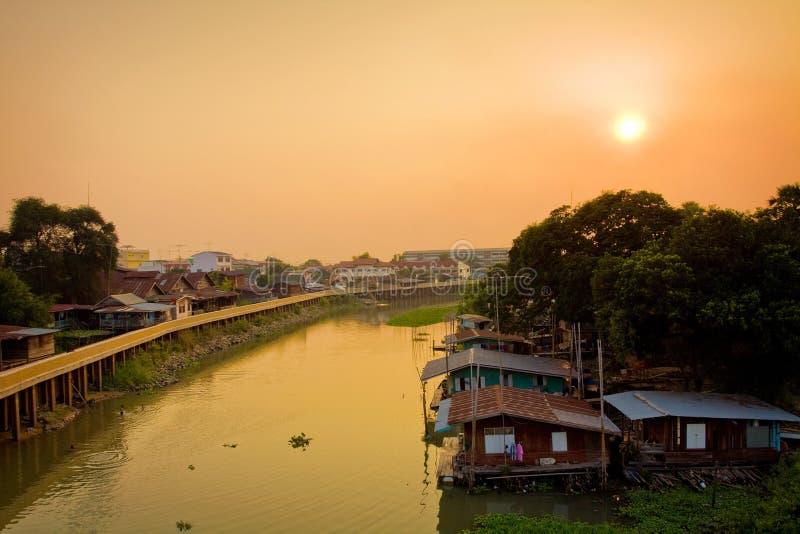 houseboat Таиланд стоковые изображения