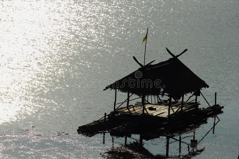 houseboat stockfotografie