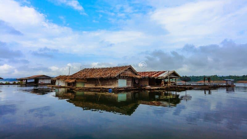 Houseboat stock photo