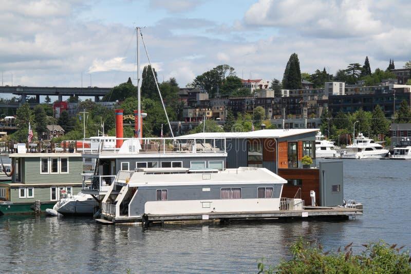 houseboat target846_1_ Seattle zdjęcia stock