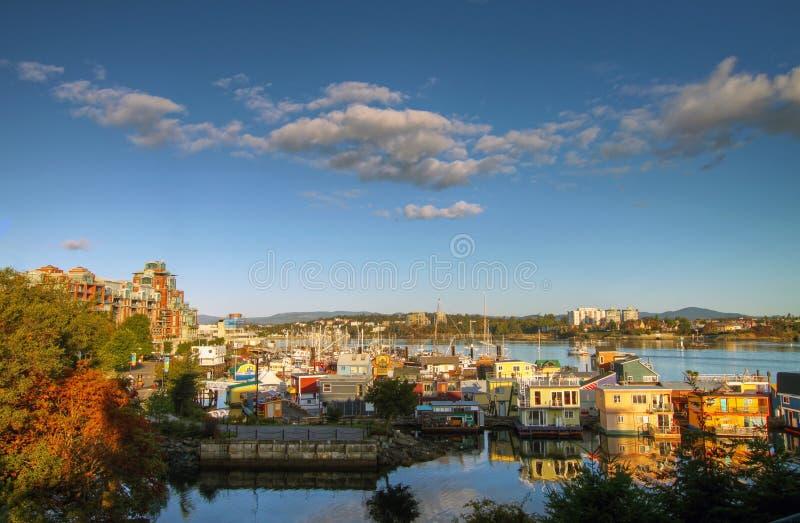houseboats arkivfoton
