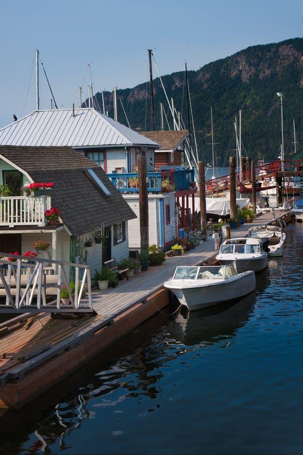 Houseboats stock image