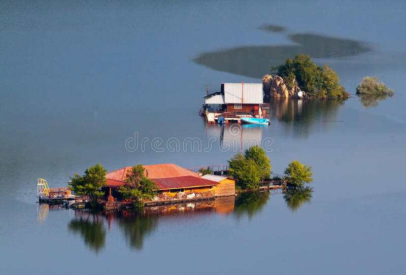 Houseboats stock images