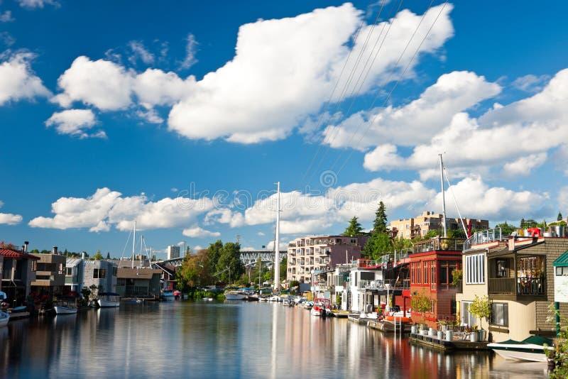 Houseboats obrazy royalty free