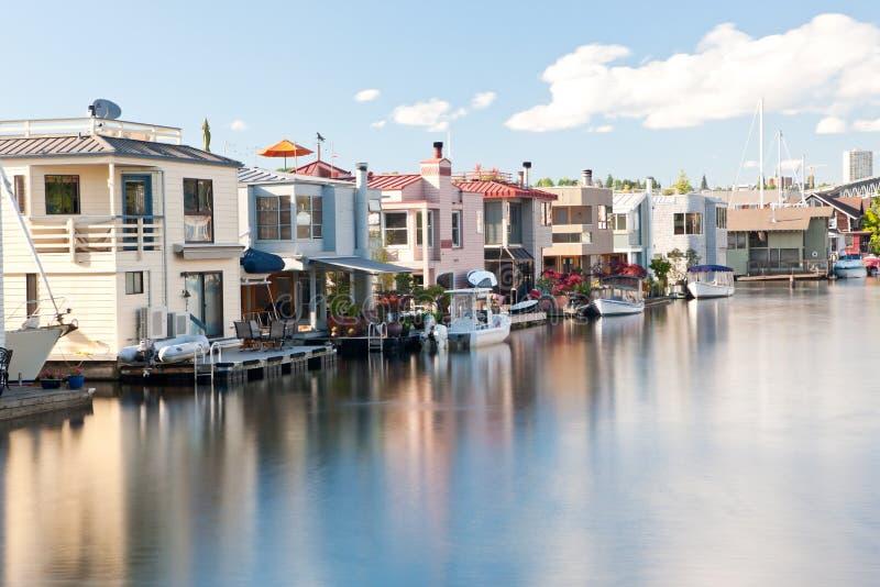 Houseboats obraz stock