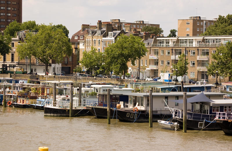 Download Houseboats, Chelsea Reach stock image. Image of exterior - 20804147
