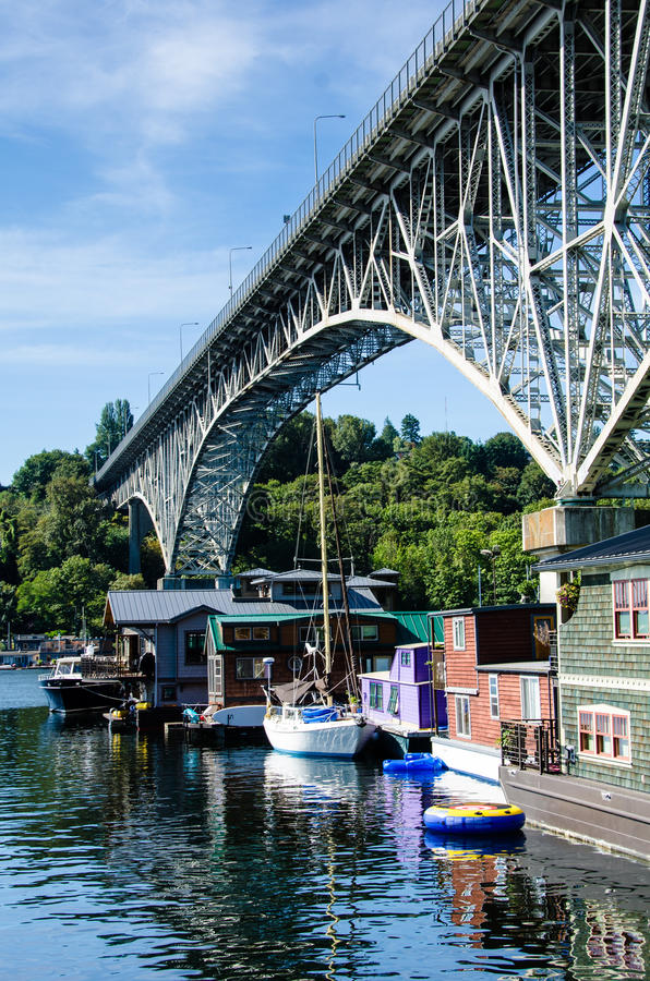 Houseboats In Freemont, Seattle Editorial Stock Image