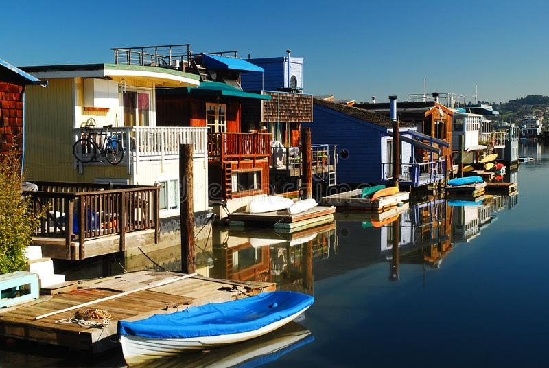Houseboats Sausalito obrazy stock
