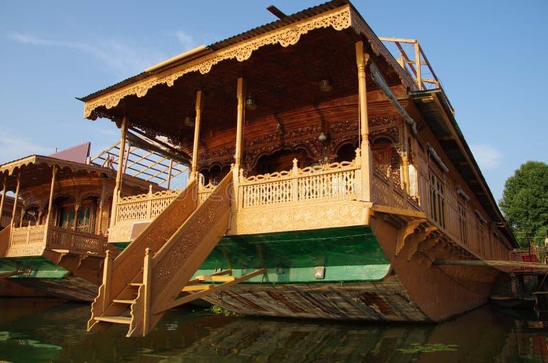 Houseboats w Srinagar w Kaszmir, India zdjęcia royalty free