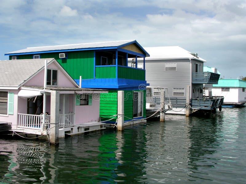 houseboatsvatten fotografering för bildbyråer
