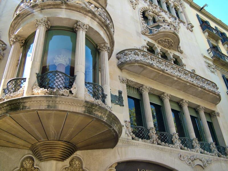HouseCasa av Lleo I Morera i Barcelona, Spanien royaltyfri fotografi