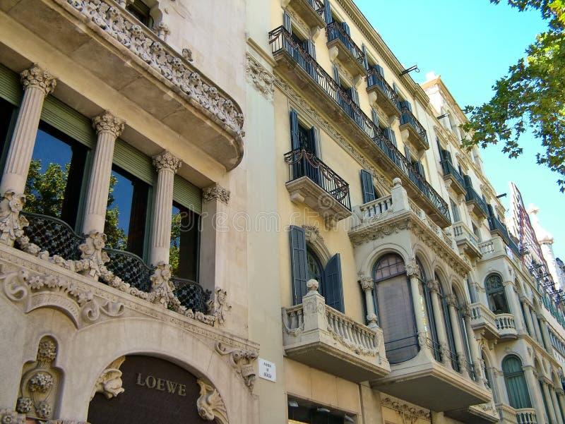 HouseCasa de Lleo mim Morera em Barcelona, Espanha fotos de stock