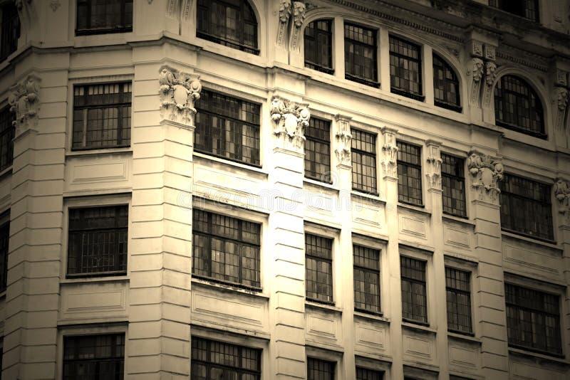 Housefront antico a Sao Paulo fotografia stock libera da diritti