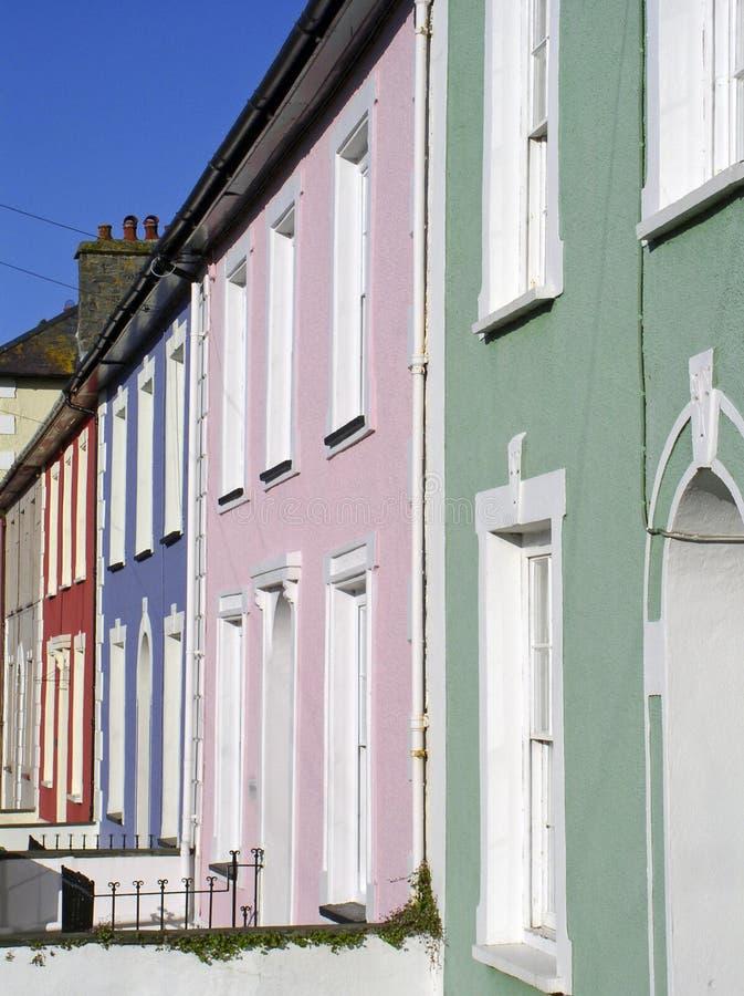 Housefronts coloreados en colores pastel fotografía de archivo libre de regalías