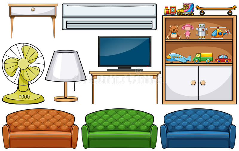Household appliances. Different kind of household appliances stock illustration