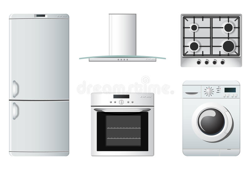 Household appliances | kitchen royalty free illustration