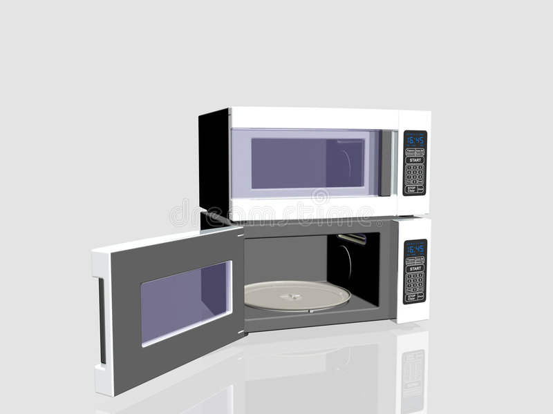 Household appliances, microwave oven. vector illustration