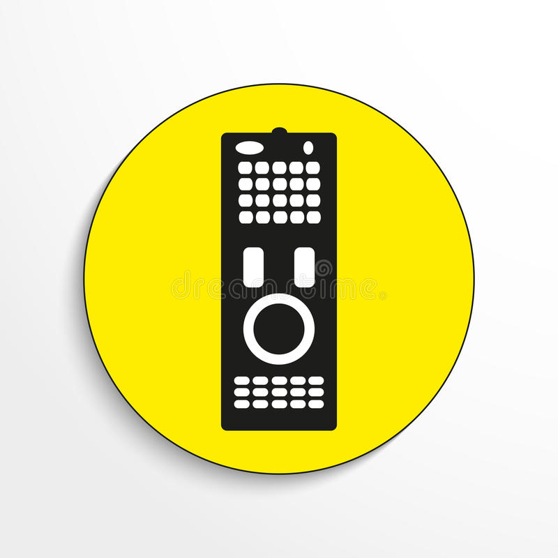 Download Household Appliances. Remote Control. Vector Icon. Object On A Yellow Background. Stock Vector - Image: 86744599