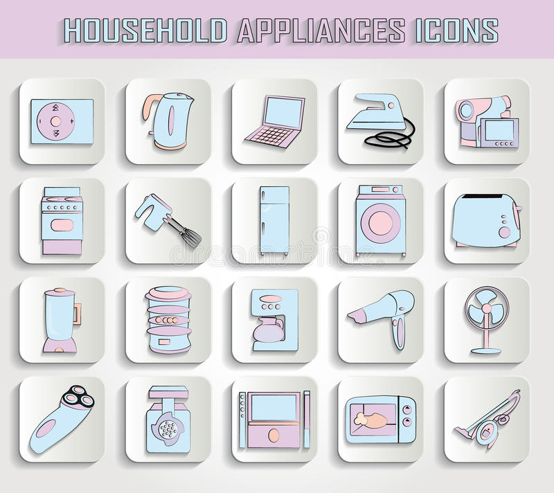Download Household appliances stock vector. Image of laptop, kitchen - 33474944