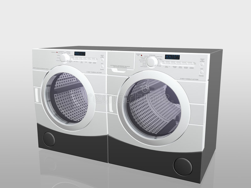 Download Household Appliances, Washer And Drier. Stock Image - Image: 1342013