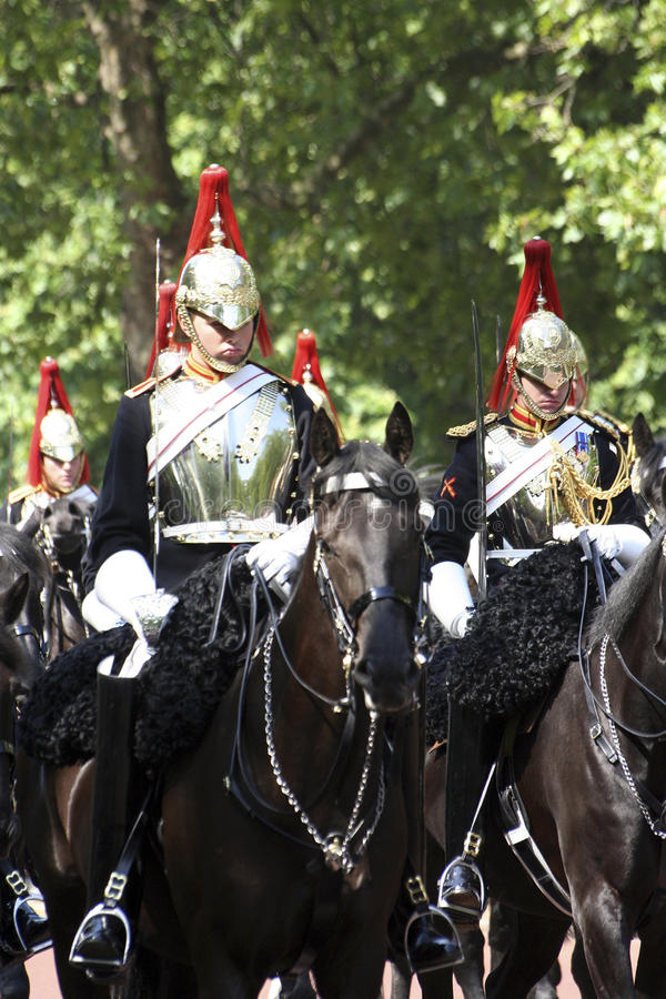Household Cavalry. London, UK - June 17, 2006: Household Cavalry at Trooping the colour ceremony, also known as the Queen's Birthday Parade stock photos