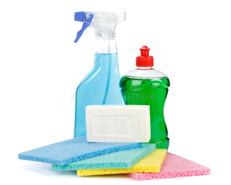 Household chemical goods royalty free stock photography