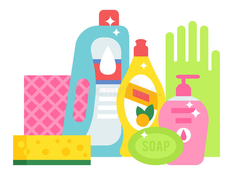 cleaning supplies vector chemicals clipart household detergent soap chemical equipment illustration plastic illustrations bottles clip cliparts tools housework housekeeping disinfect