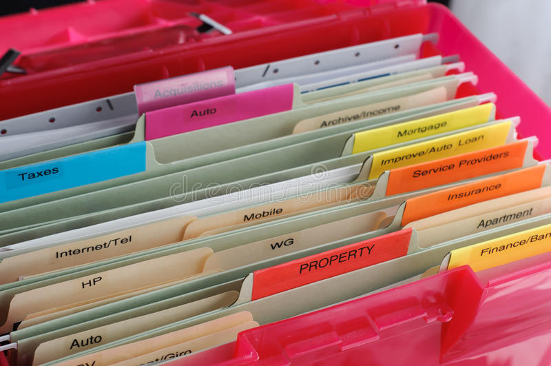 Household Documents Organization royalty free stock photo