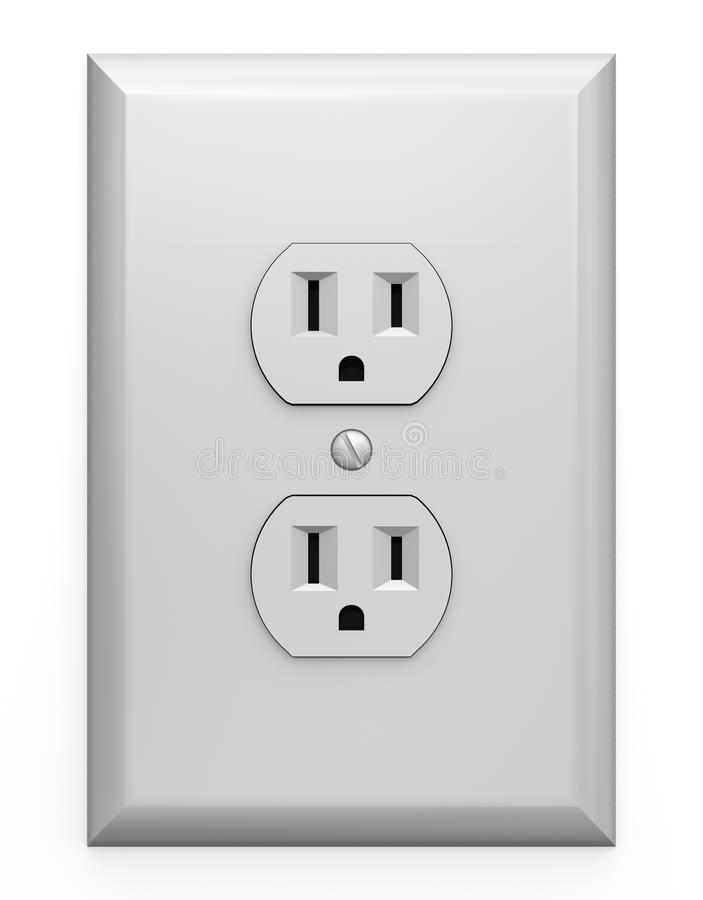 Household electric outlet vector illustration