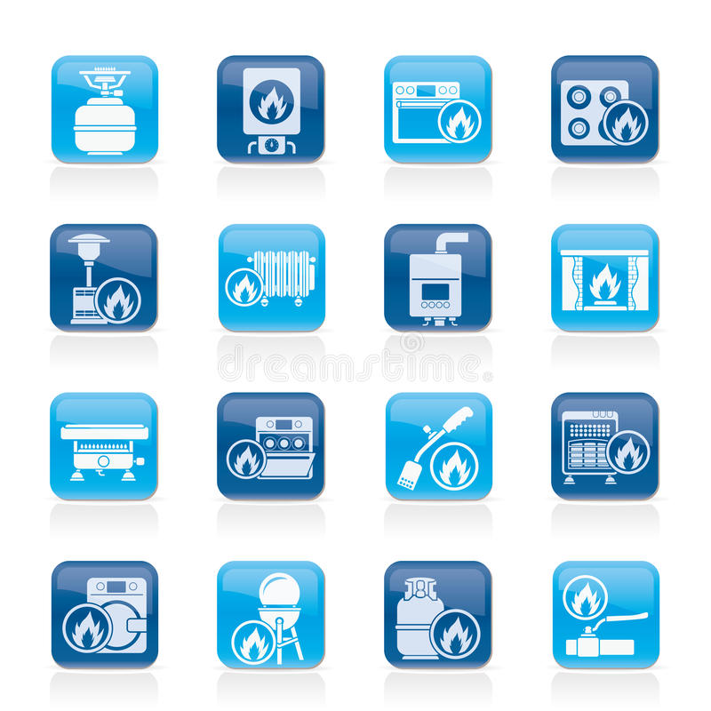 Download Household Gas Appliances Icons Stock Vector - Illustration of computer, barbecue: 26361080