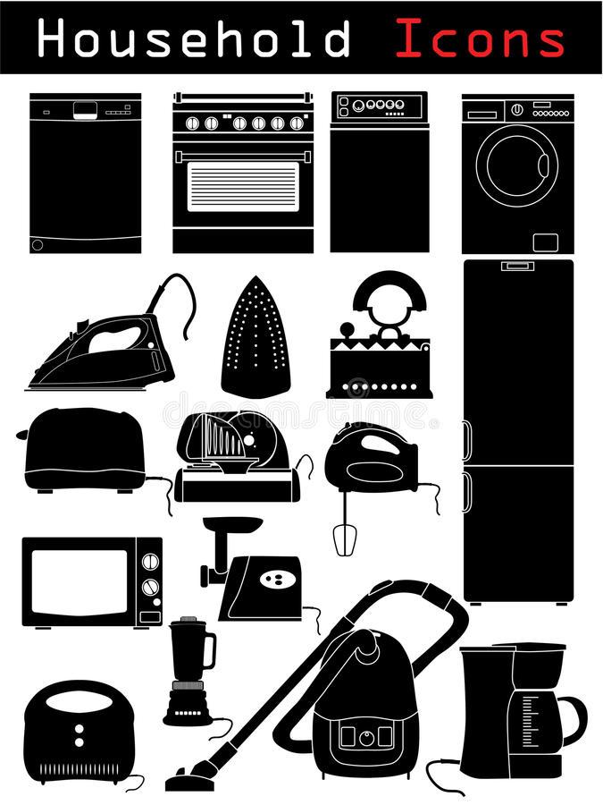 Download Household icons stock vector. Illustration of equipment - 11231088