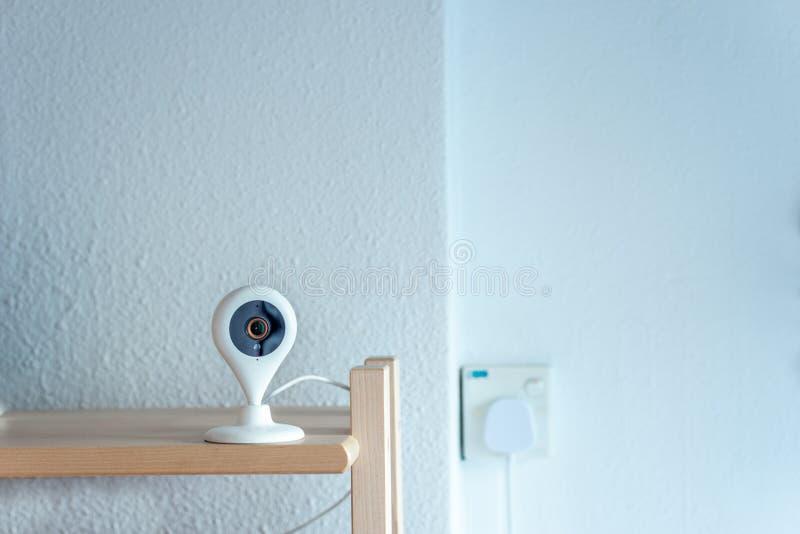 Household indoor digital CCTV Internet surveillance web cam with night vision stock photo