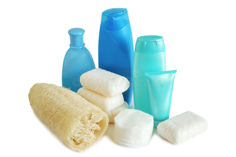 Download Household Items For Cleanliness Stock Image - Image of blue, healthcare: 7448091