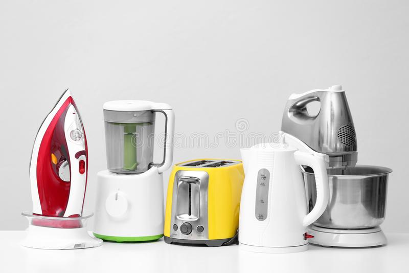 Household and kitchen appliances stock photos