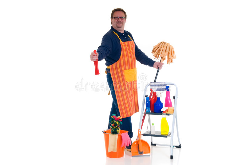 Household by man stock images