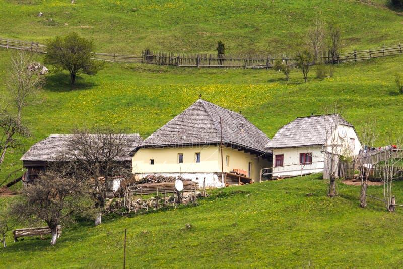 Household in Moieciu de Sus. Brasov, Romania royalty free stock image