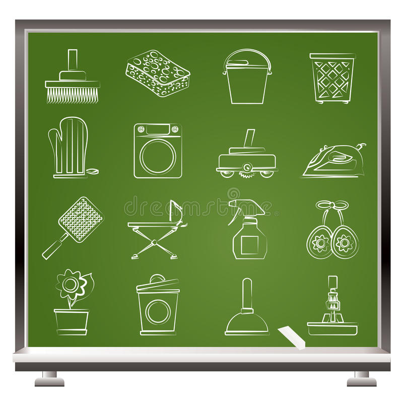 Download Household Objects And Tools Icons Stock Vector - Image: 23830052